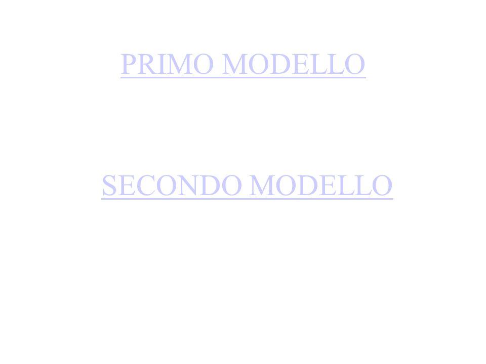 PRIMO MODELLO SECONDO MODELLO
