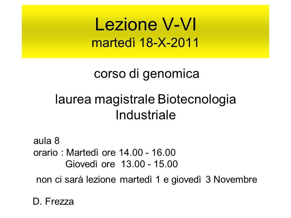 Lezione V-VI martedì 18-X-2011