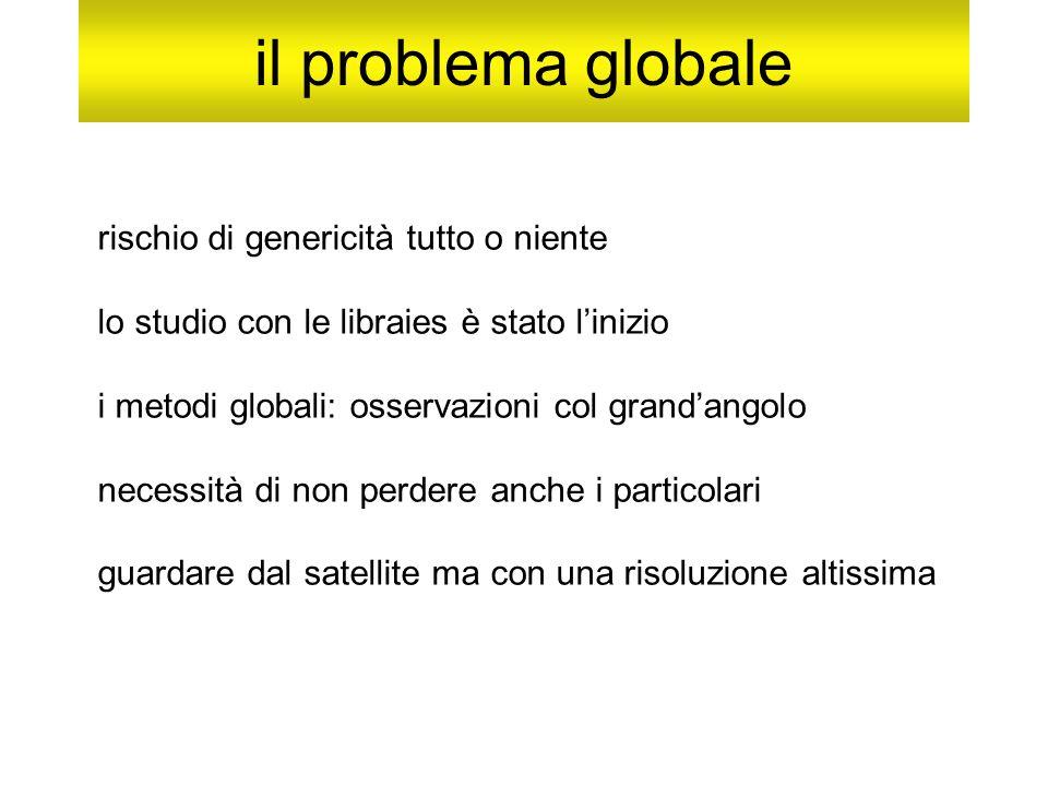 il problema globale rischio di genericità tutto o niente