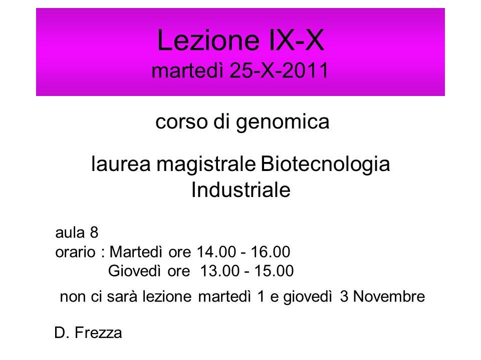 Lezione IX-X martedì 25-X-2011