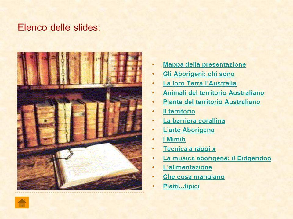 Elenco delle slides: Mappa della presentazione Gli Aborigeni: chi sono