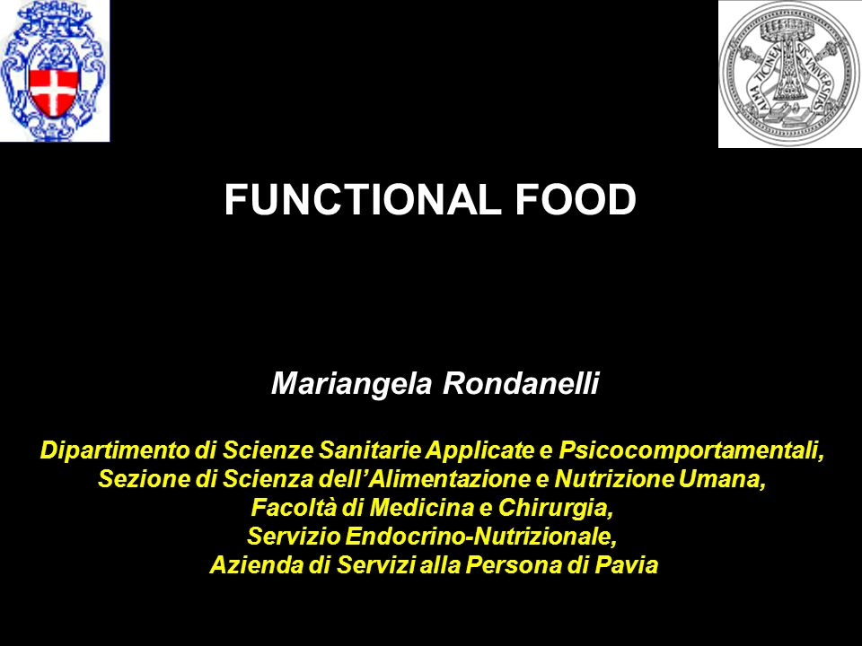 FUNCTIONAL FOOD Mariangela Rondanelli