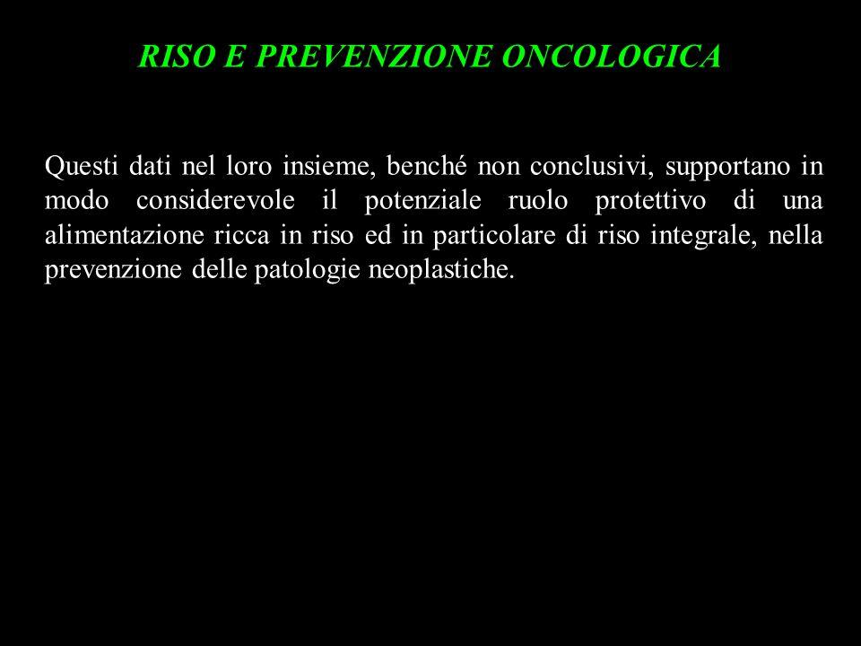 RISO E PREVENZIONE ONCOLOGICA