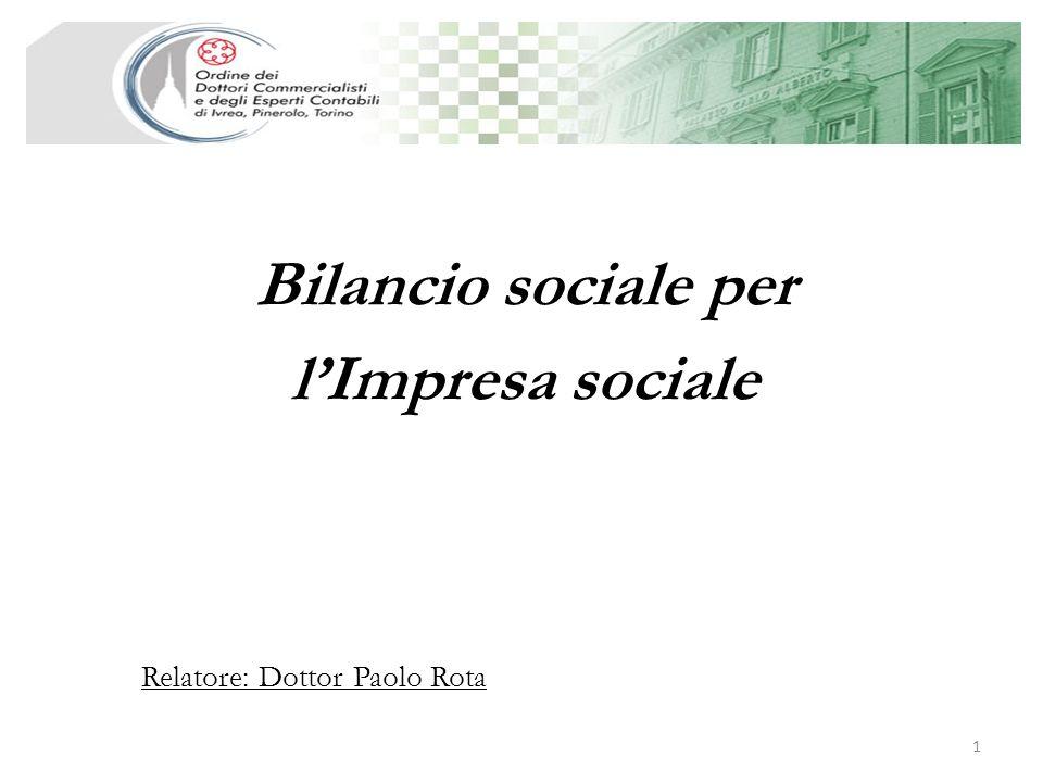 Bilancio sociale per l'Impresa sociale