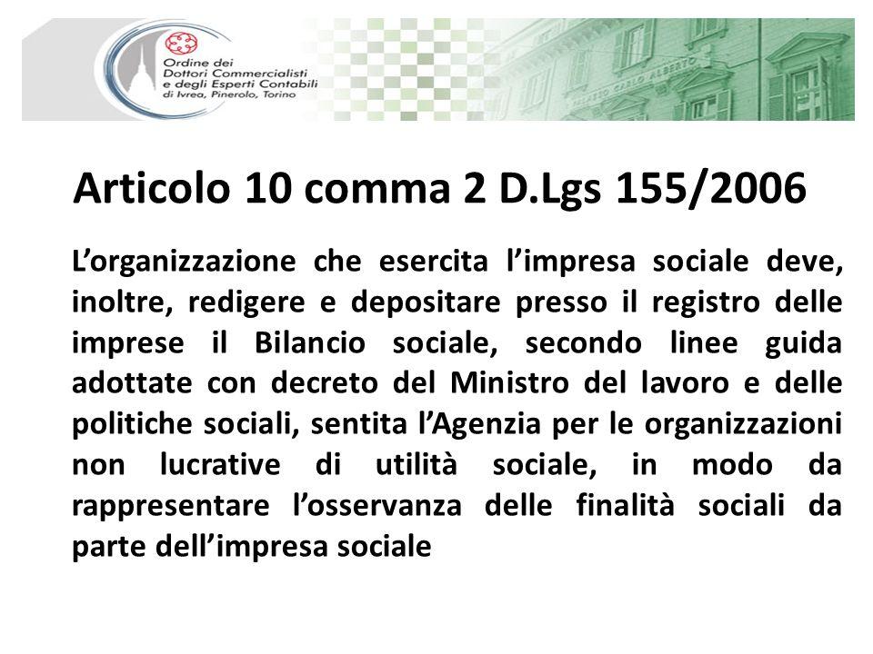 Articolo 10 comma 2 D.Lgs 155/2006