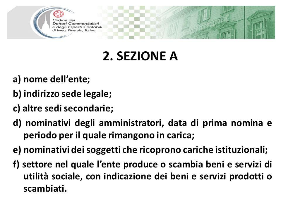 2. SEZIONE A