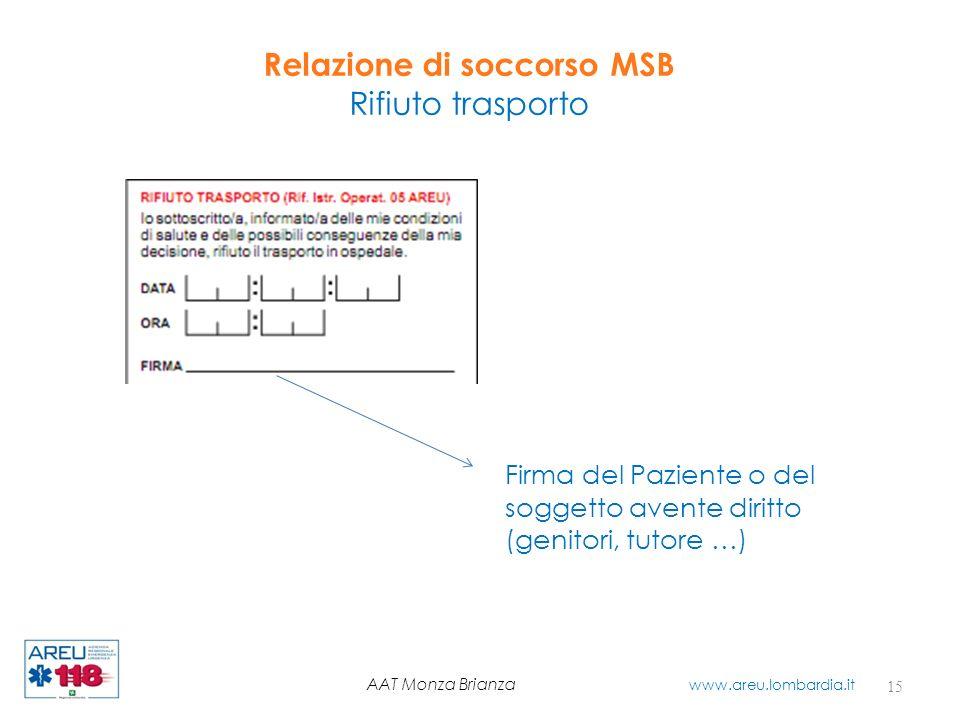 Relazione di soccorso MSB