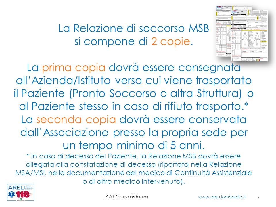 La Relazione di soccorso MSB
