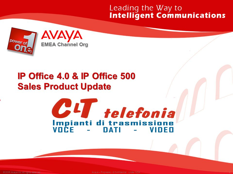 IP Office 4.0 & IP Office 500 Sales Product Update