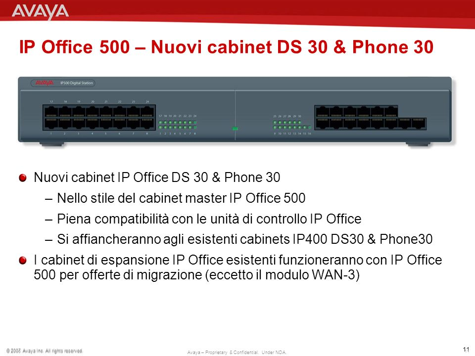 IP Office 500 – Nuovi cabinet DS 30 & Phone 30