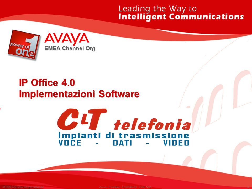 IP Office 4.0 Implementazioni Software