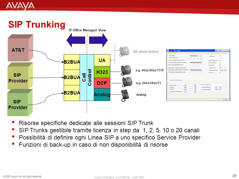 SIP Trunking Risorse specifiche dedicate alle sessioni SIP Trunk