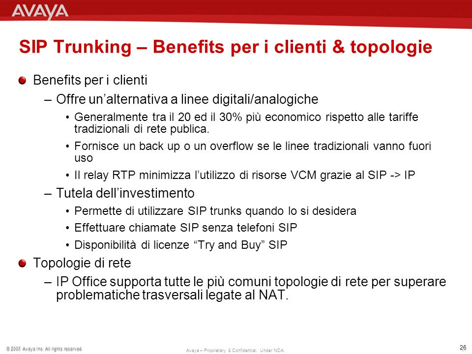 SIP Trunking – Benefits per i clienti & topologie