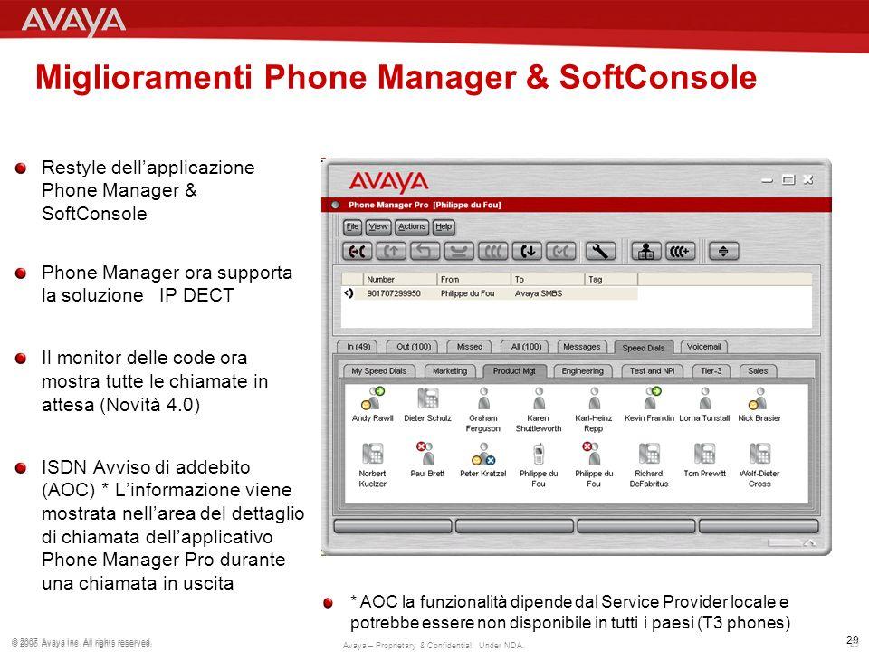 Miglioramenti Phone Manager & SoftConsole