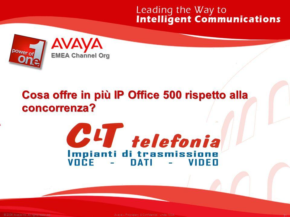 Cosa offre in più IP Office 500 rispetto alla concorrenza