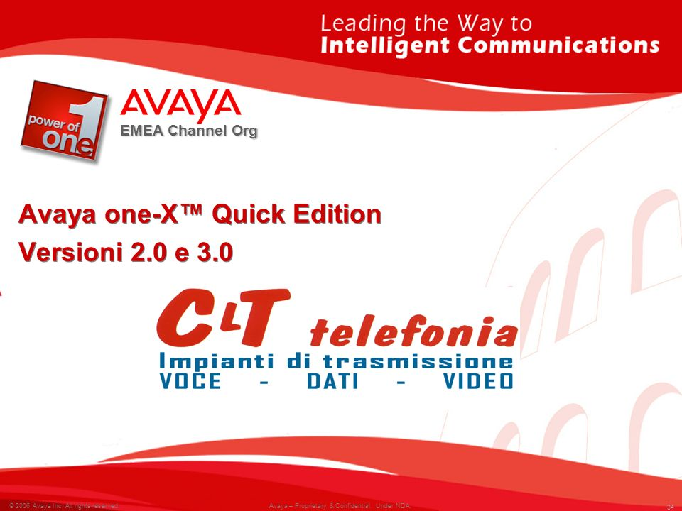 Avaya one-X™ Quick Edition Versioni 2.0 e 3.0