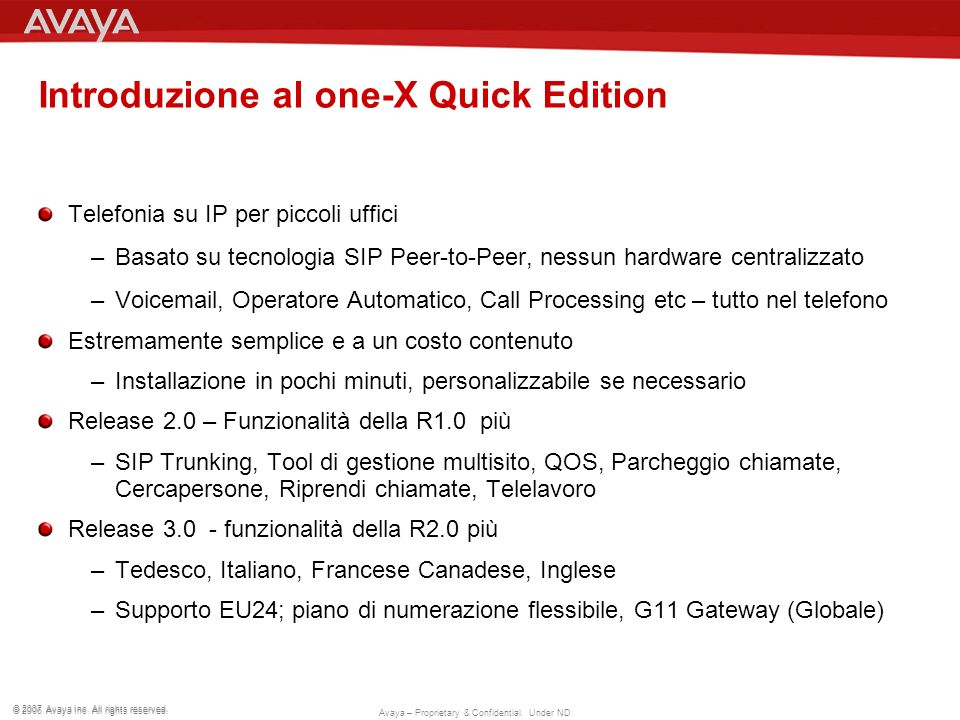 Introduzione al one-X Quick Edition