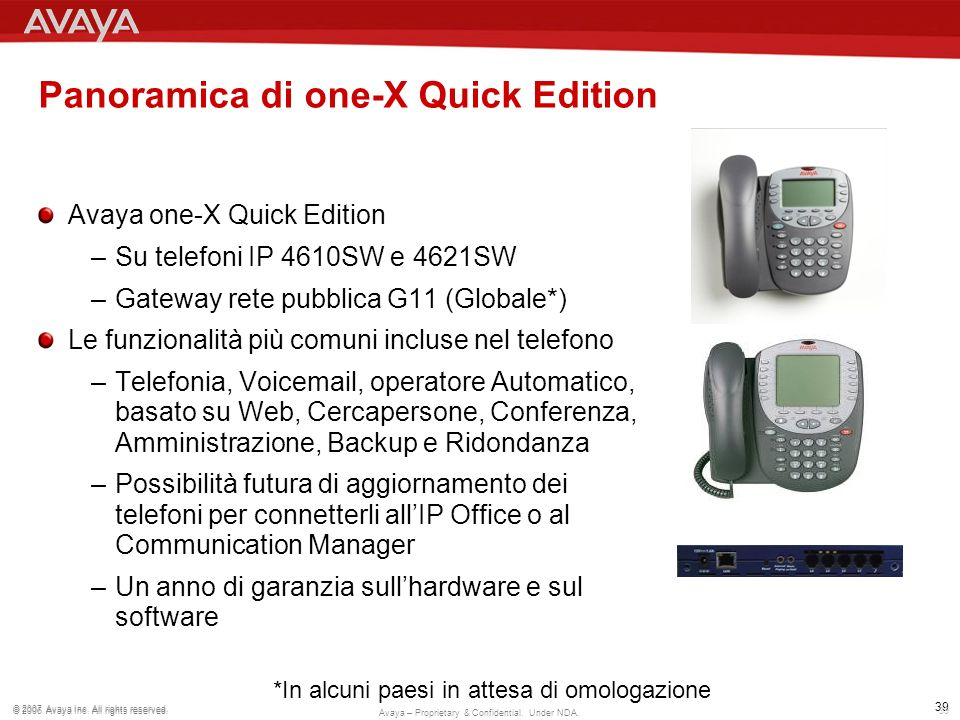 Panoramica di one-X Quick Edition