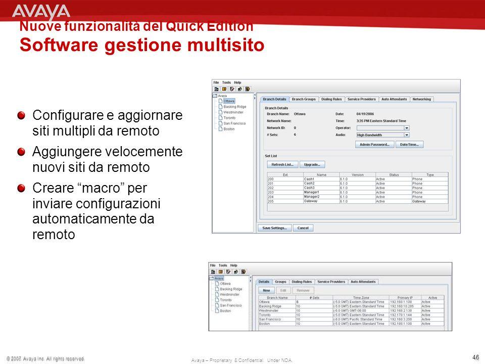 Nuove funzionalità del Quick Edition Software gestione multisito