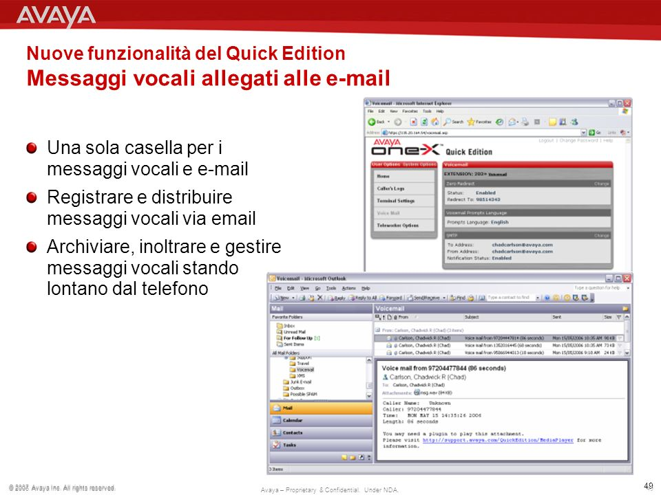 Nuove funzionalità del Quick Edition Messaggi vocali allegati alle e-mail