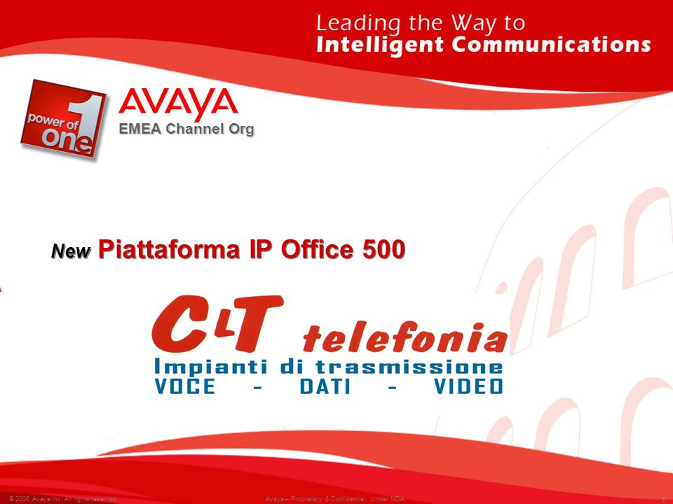 New Piattaforma IP Office 500