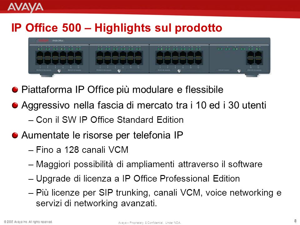 IP Office 500 – Highlights sul prodotto
