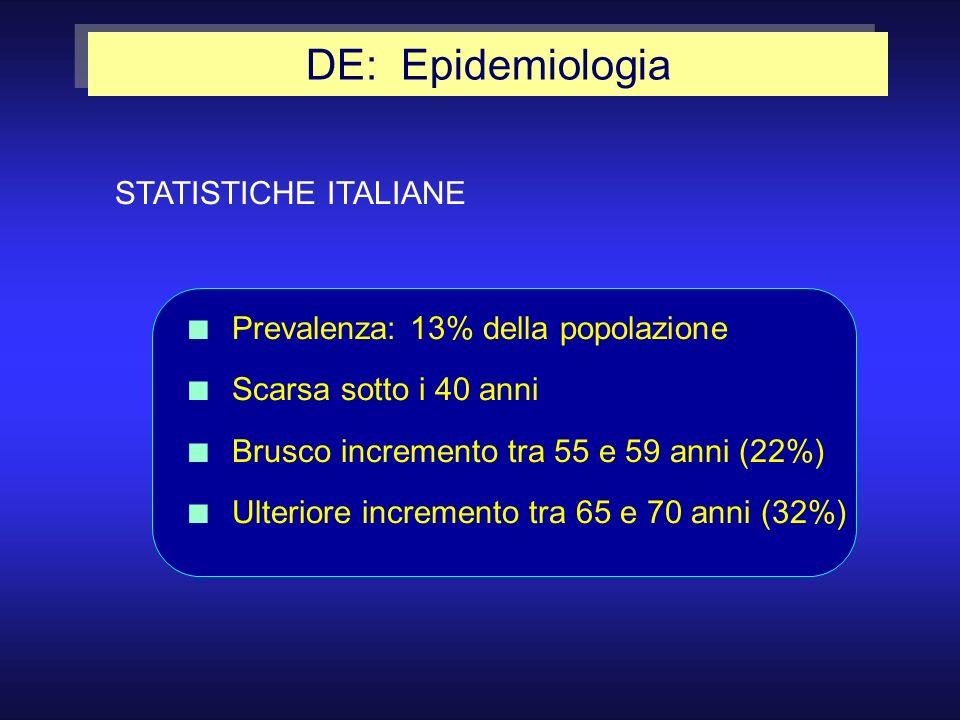 DE: Epidemiologia STATISTICHE ITALIANE