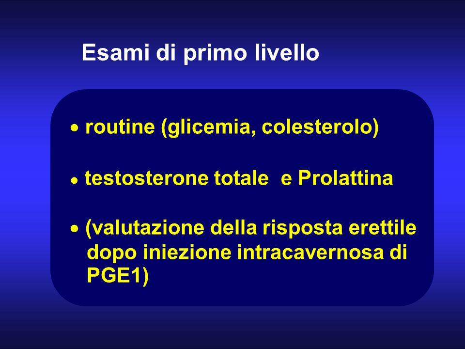 routine (glicemia, colesterolo)