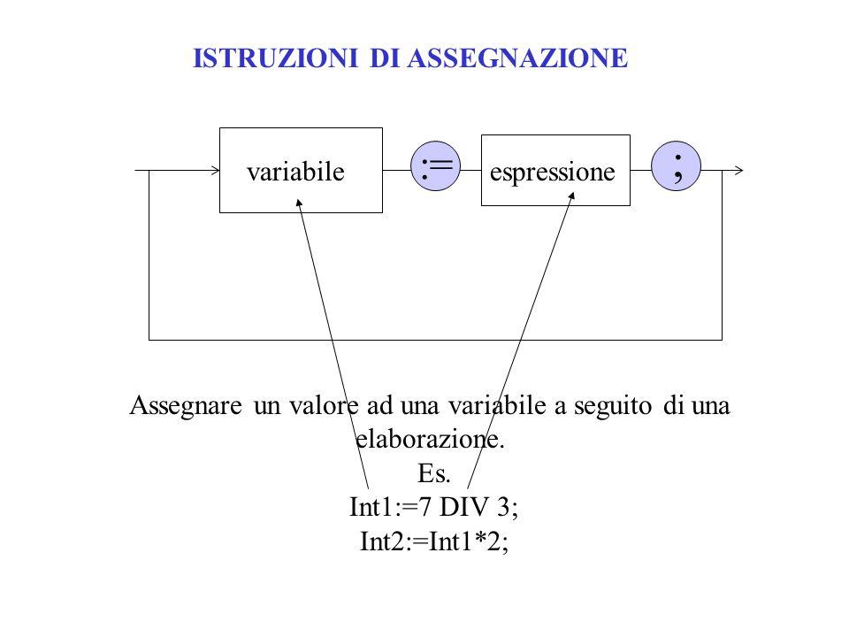 Assegnare un valore ad una variabile a seguito di una