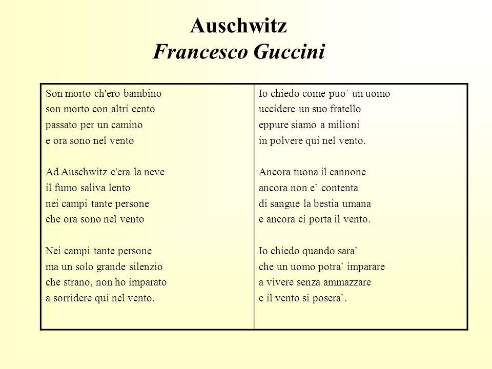 Auschwitz Francesco Guccini