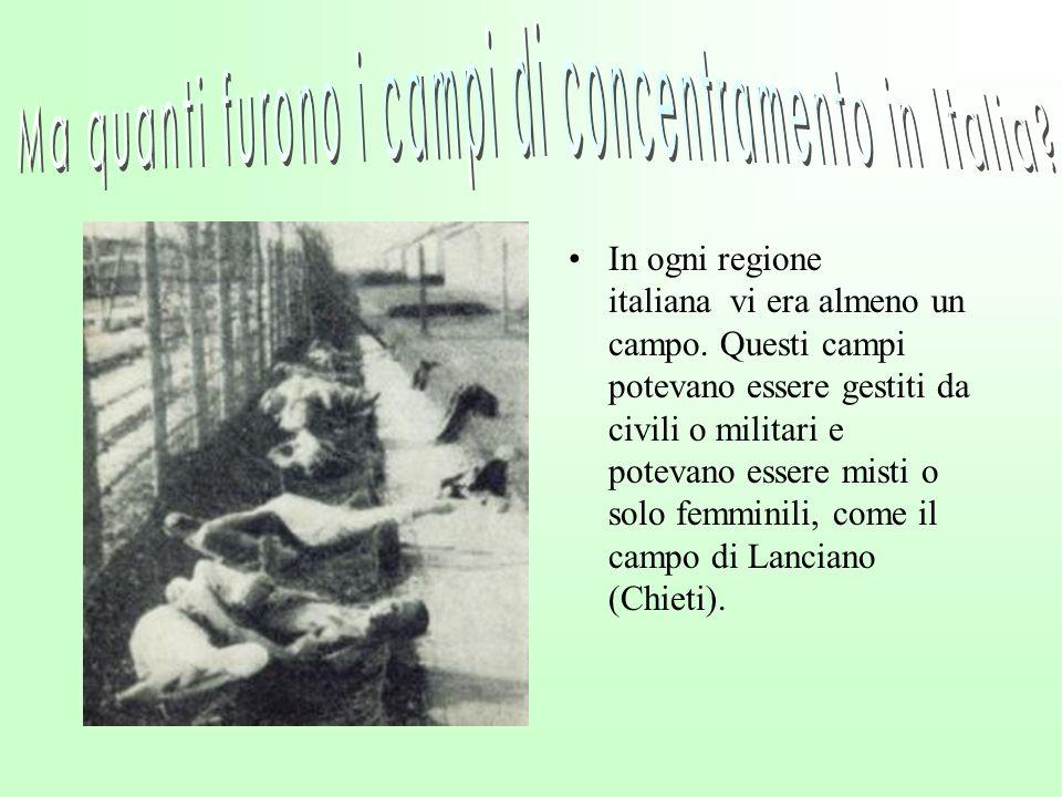 Ma quanti furono i campi di concentramento in Italia