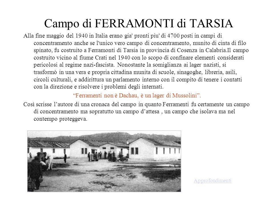 Campo di FERRAMONTI di TARSIA