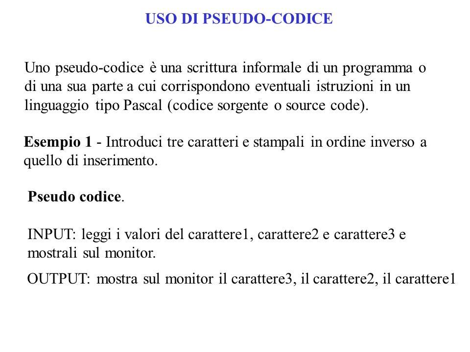USO DI PSEUDO-CODICE