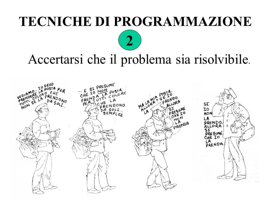 2 TECNICHE DI PROGRAMMAZIONE