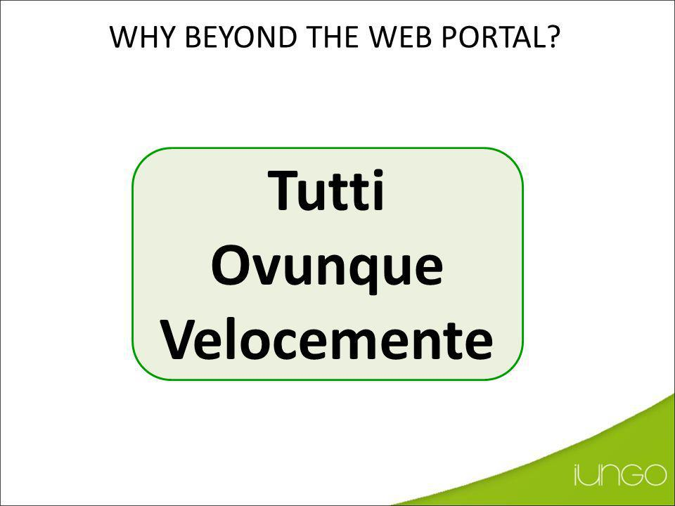 WHY beyond the Web Portal