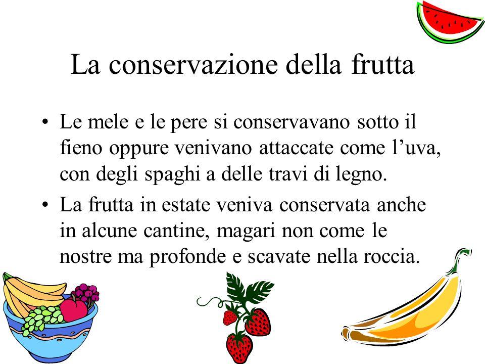 La conservazione della frutta