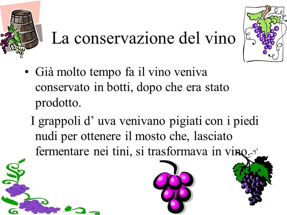 La conservazione del vino