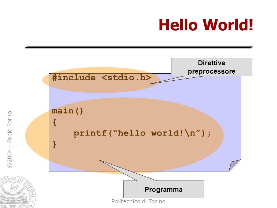 Direttive preprocessore