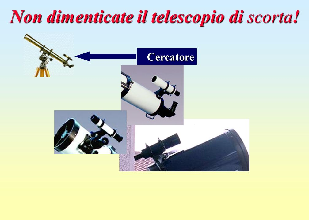 Non dimenticate il telescopio di scorta!