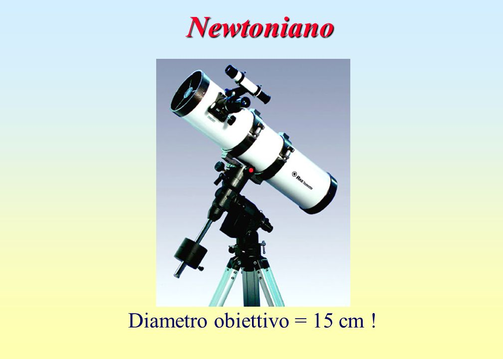 Diametro obiettivo = 15 cm !