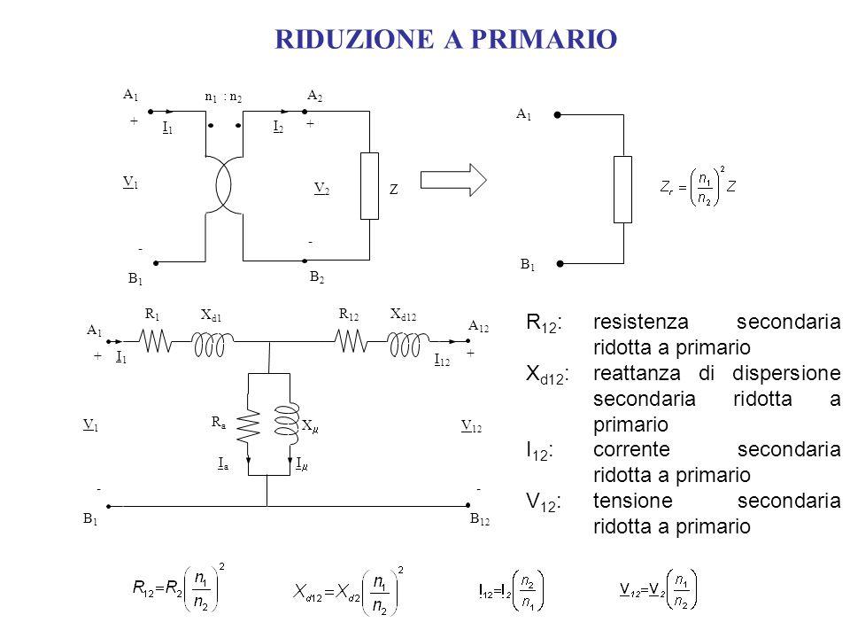 RIDUZIONE A PRIMARIO R12: resistenza secondaria ridotta a primario