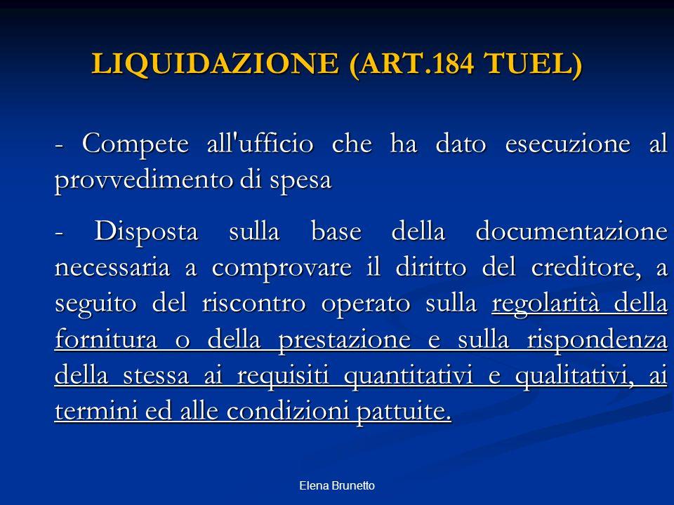 LIQUIDAZIONE (ART.184 TUEL)