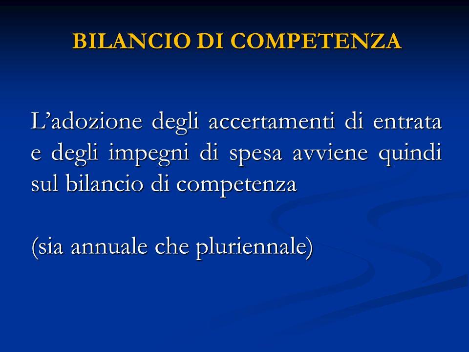 BILANCIO DI COMPETENZA