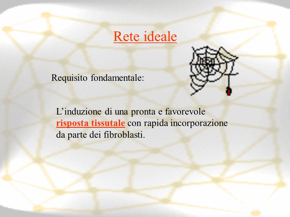 Rete ideale Requisito fondamentale: