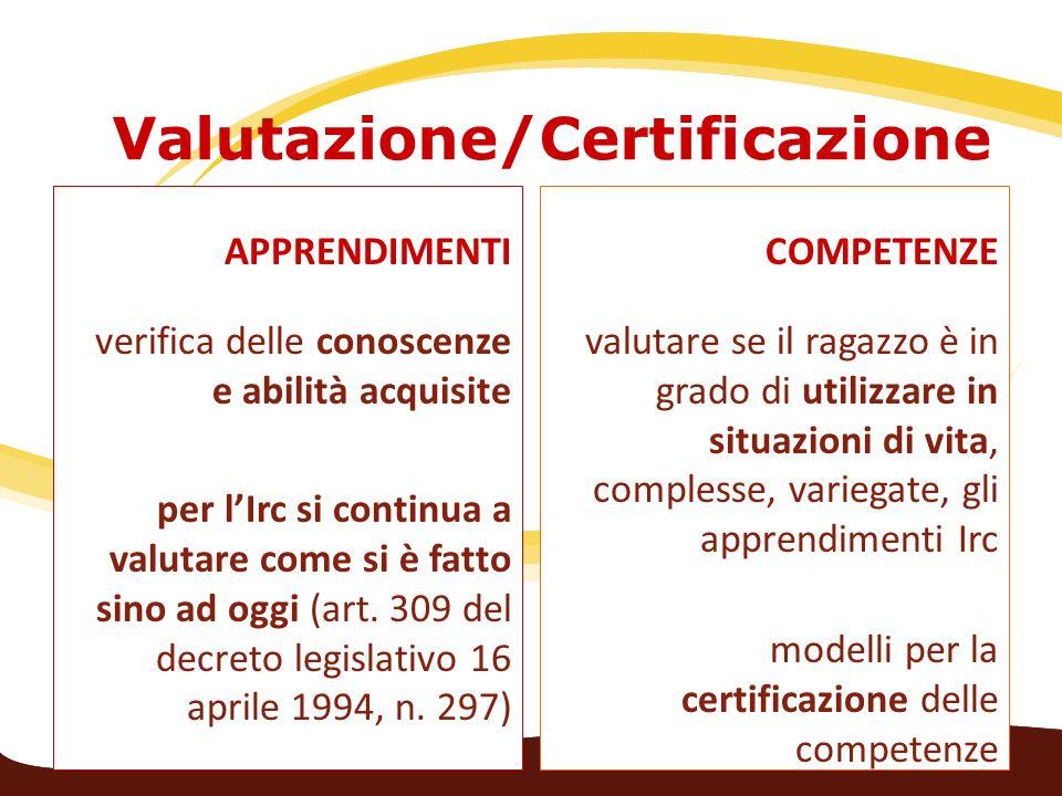 Valutazione/Certificazione