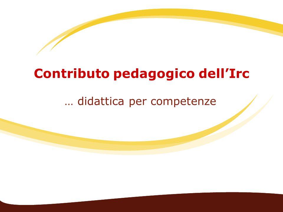 Contributo pedagogico dell'Irc