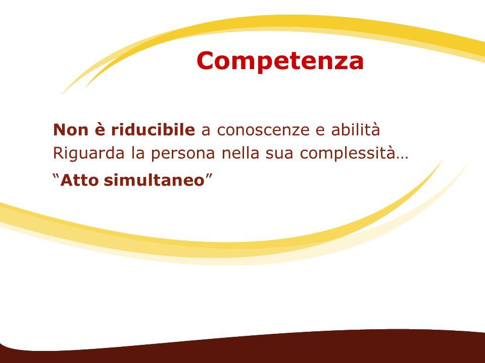 Competenza Non è riducibile a conoscenze e abilità