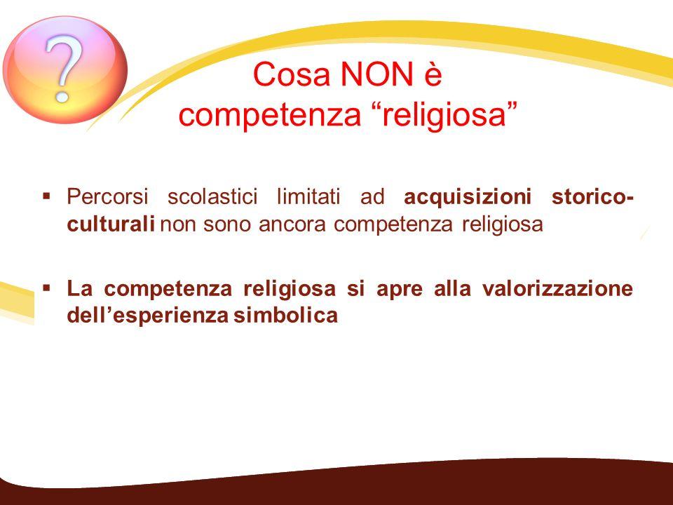 Cosa NON è competenza religiosa