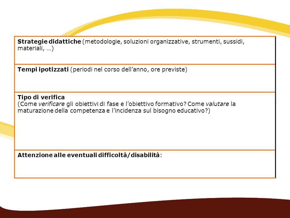 Strategie didattiche (metodologie, soluzioni organizzative, strumenti, sussidi, materiali, …)