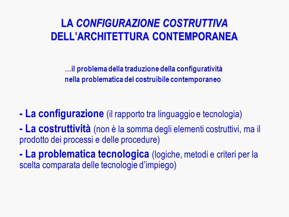 LA CONFIGURAZIONE COSTRUTTIVA DELL'ARCHITETTURA CONTEMPORANEA